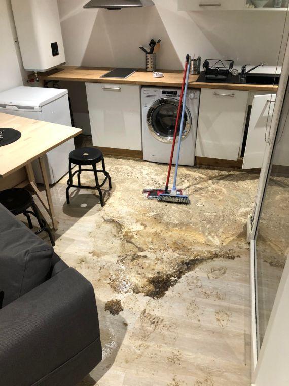 Nettoyage dégât des eaux chez un particulier dans le centre ville de Toulouse, DNA Propreté & Services