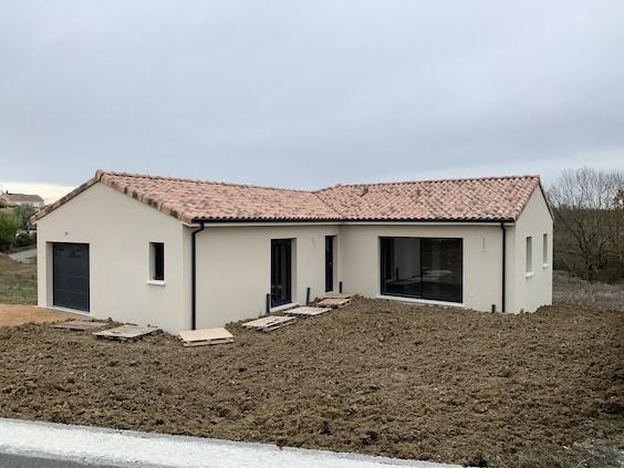Nettoyage de fin de chantier d'une villa située sur la commune de Lapeyrouse-Fossat, DNA Propreté & Services