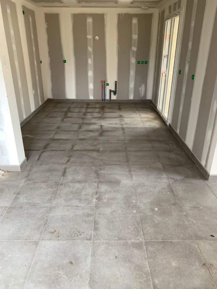 Nettoyage de fin de chantier d'une villa située à Albi dans le département du Tarn, DNA Propreté & Services