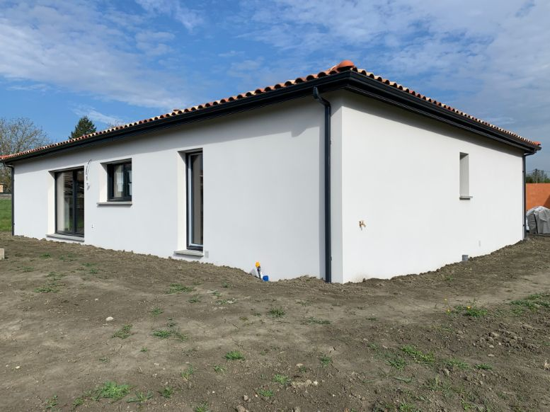 Nettoyage de fin de chantier d'une villa située sur la commune de Le Fauga, DNA Propreté & Services