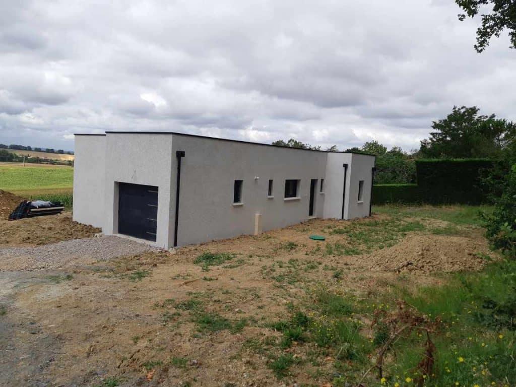 Nettoyage de fin de chantier d'une villa située à Lombers, DNA Propreté & Services