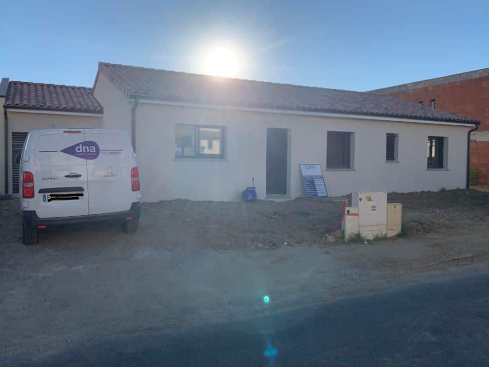 Nettoyage de fin de chantier d'une villa située à Gragnague, DNA Propreté & Services