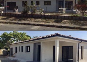 Nettoyage de fin de chantier d'une villa située sur la commune d'Escalquens