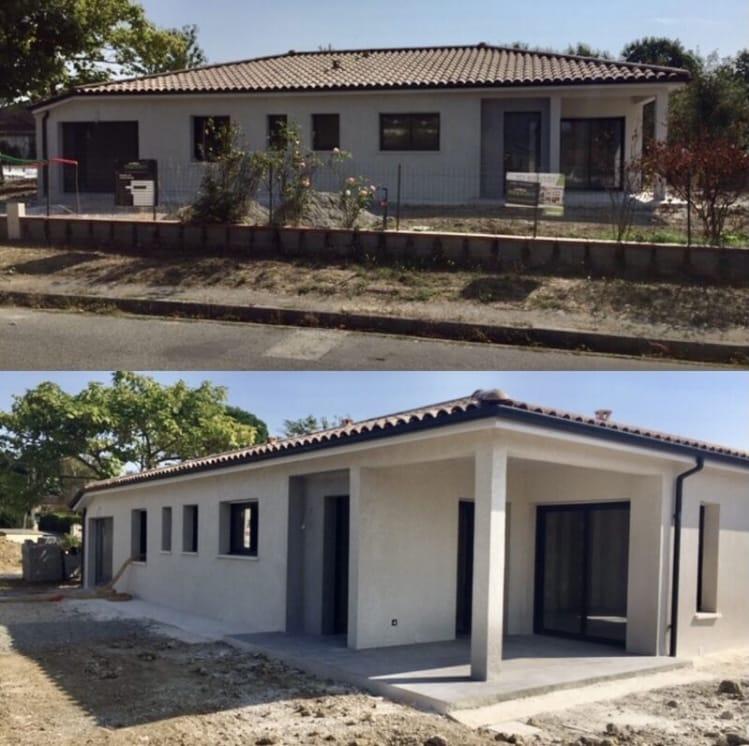 Nettoyage de fin de chantier d'une villa située sur la commune d'Escalquens, DNA Propreté & Services
