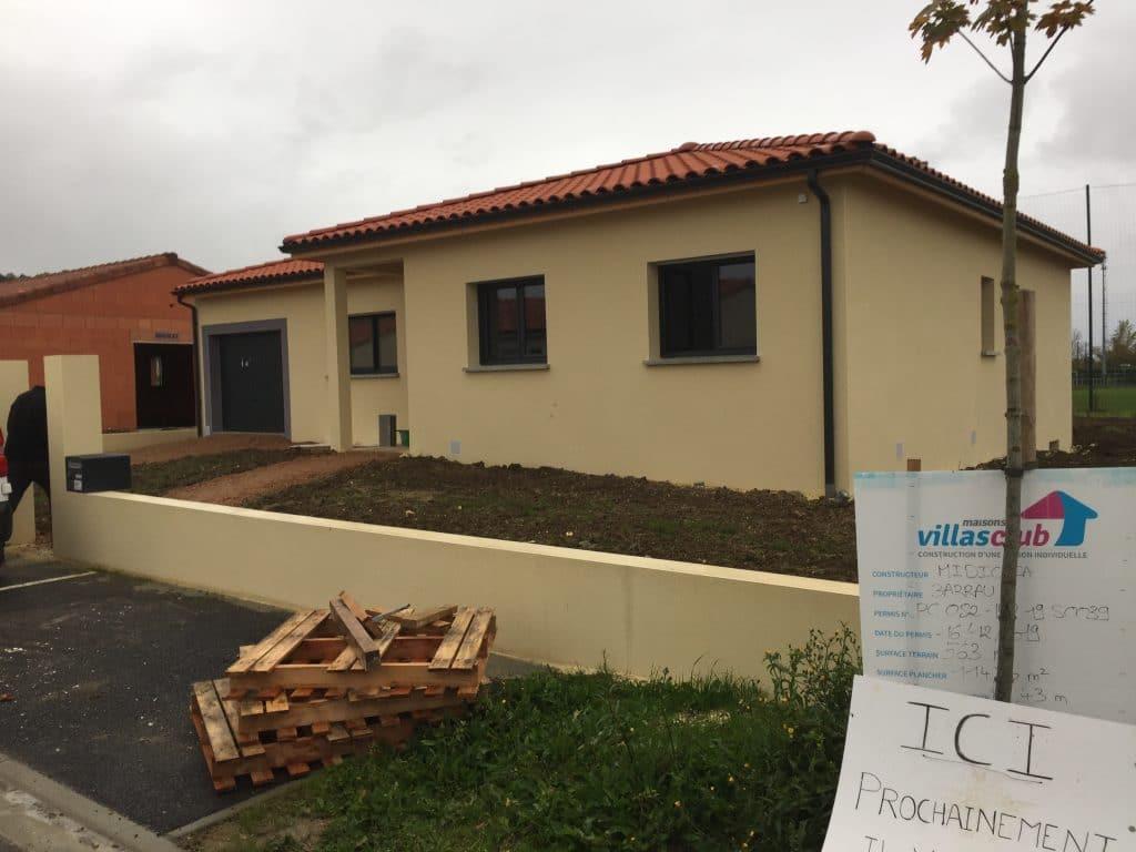 Nettoyage de fin de chantier d'une villa située à Pompignan, DNA Propreté & Services