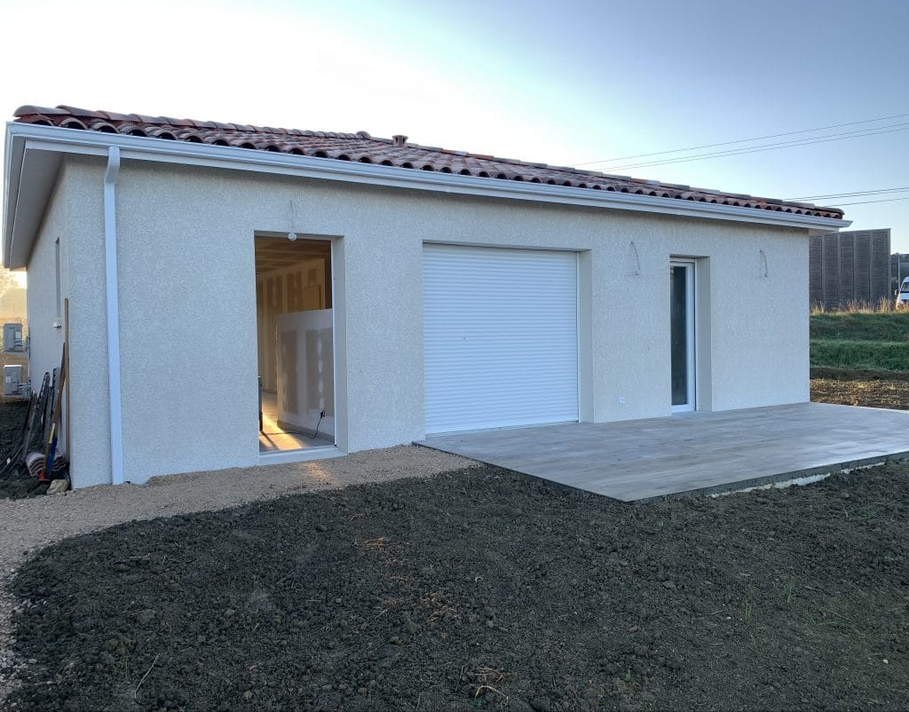 Nettoyage de fin de chantier d'une villa située à Cadours, DNA Propreté & Services